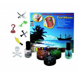 "Glitter tattoo suur komplekt ""Kariibimeri"""