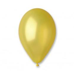 Kollane metallik õhupall -...