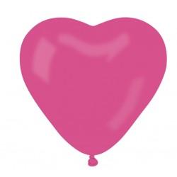 Õhupall tumeroosa süda (25cm)