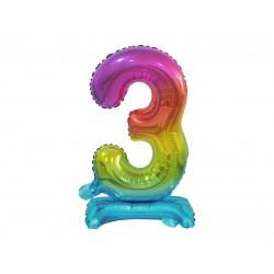 Värviline number 3 (38cm)