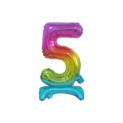 Värviline number 5 (38cm)