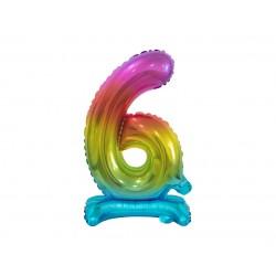 Värviline number 6 (38cm)