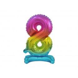 Värviline number 8 (38cm)