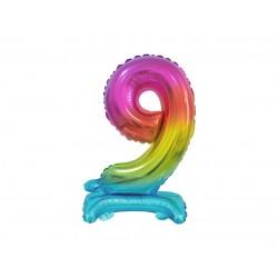 Värviline number 9 (38cm)
