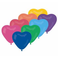 """Värvilised südamed 10""""/25cm..."""