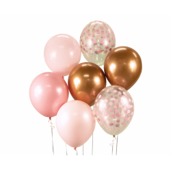Õhupallikimp roosa-vask -...