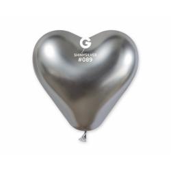 Õhupall hõbedane süda (30cm)