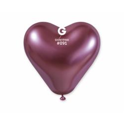 Õhupall roosa süda (30cm)