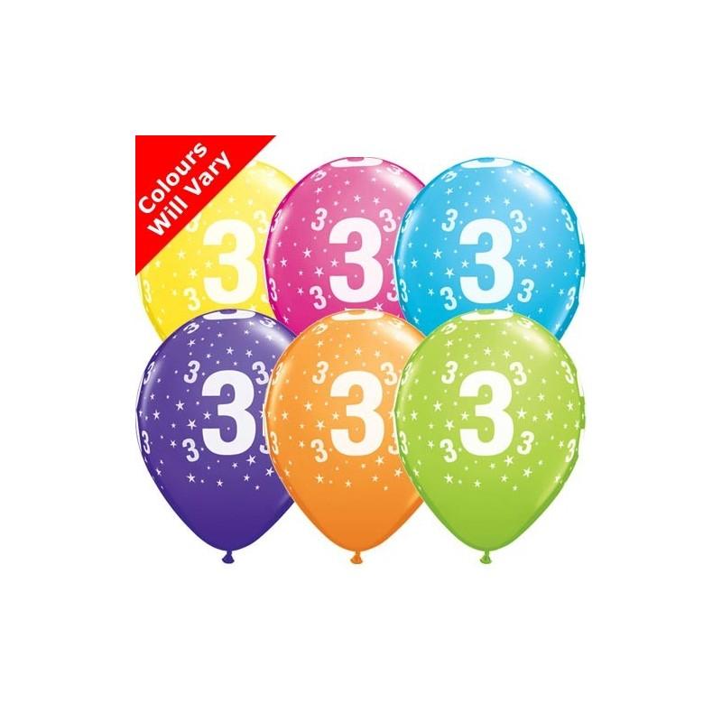 "Number 3 - 11""/28cm (6)"
