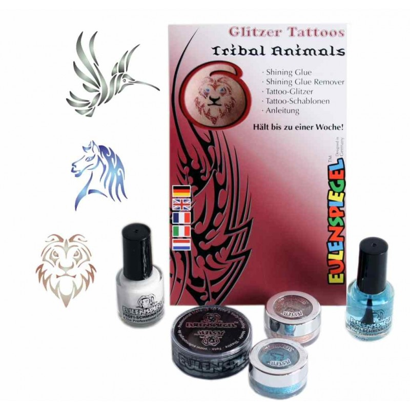 """Glitter tattoo komplekt """"Loomad"""""""