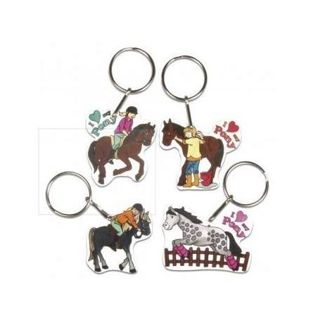 Kahanev plastik - võtmehoidjad, hobused (4tk)