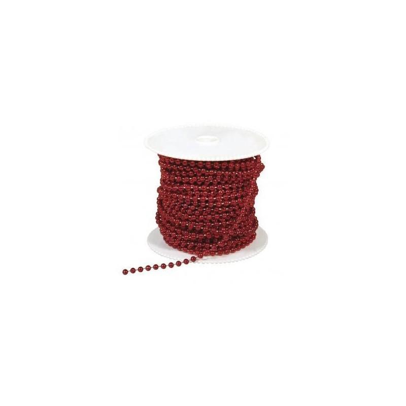 Dekoratiiv pärlikett punane (1m)