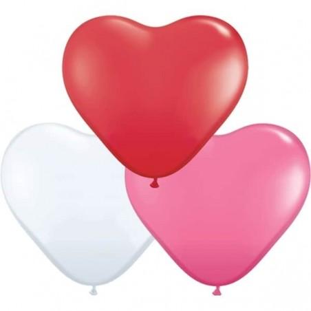 """Värvilised südamed 5""""/15,2cm (50)"""