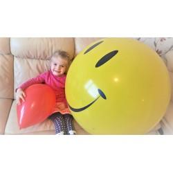Õhupall XL , roosa valgete täppidega, 91 cm (1)