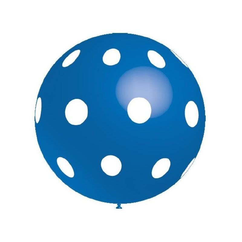 Õhupall XL , sinine valgete täppidega, 91 cm (1)
