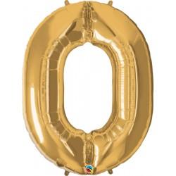 """Foolium Õhupall Number """"0"""" 34""""/86cm"""